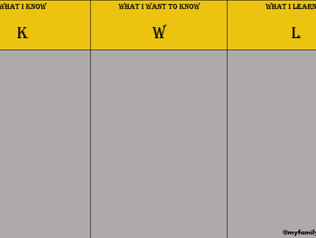 A Genealogy K-W-L Chart for the New Year