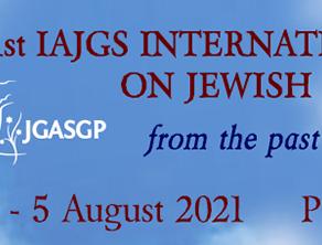 Speaker for IAJGS in Summer 2021