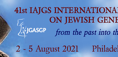 Speaker for IAJGS in Summer 2021
