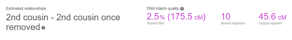 DNA shared with Eric Jr.