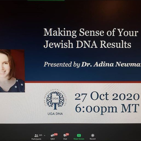 Recording of UGA DNA Webinar on Jewish DNA Results
