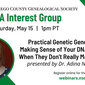 Upcoming DNA Presentation for NSDCGS