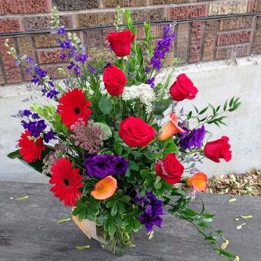 Vivid Color Anniversary Bouquet