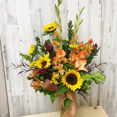 Copper Sunflower Bouquet