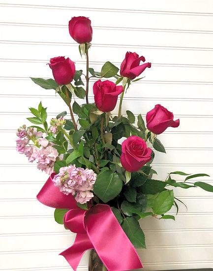 Mother's Day Half Dozen Rose Bouquet