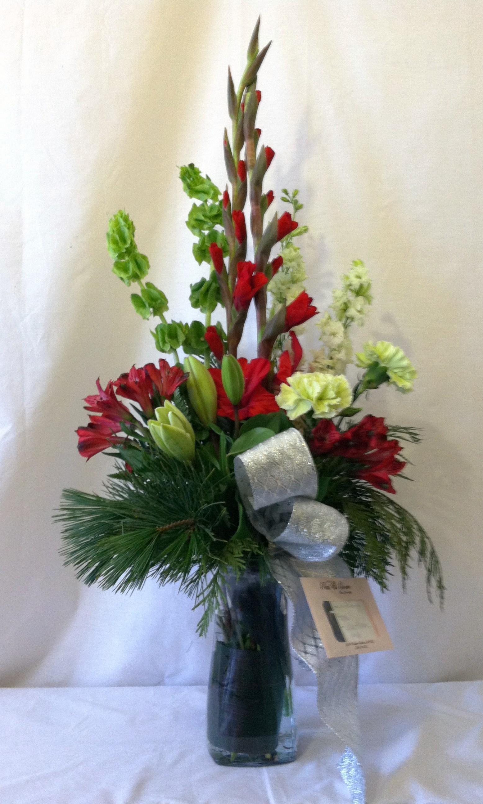 Vased Holiday Memory Arrangement