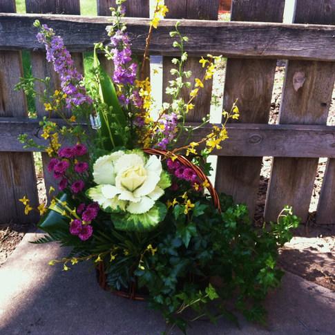Spring Floral and Plant Basket
