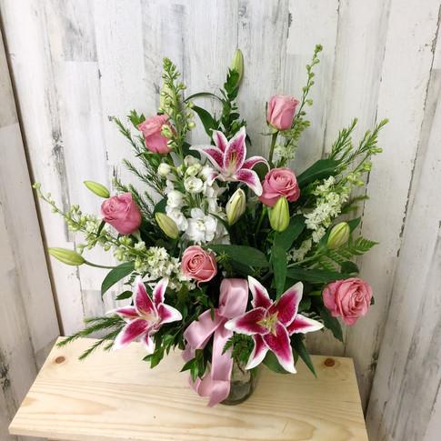 Pink Petals Vase