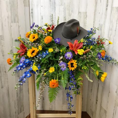 Western Wildflower Casket Piece