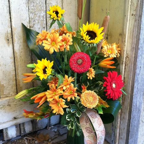 Vivid Fall Vase
