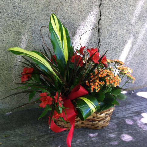 Planter Basket With Flowers