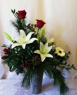Gerbera Christmas Arrangement