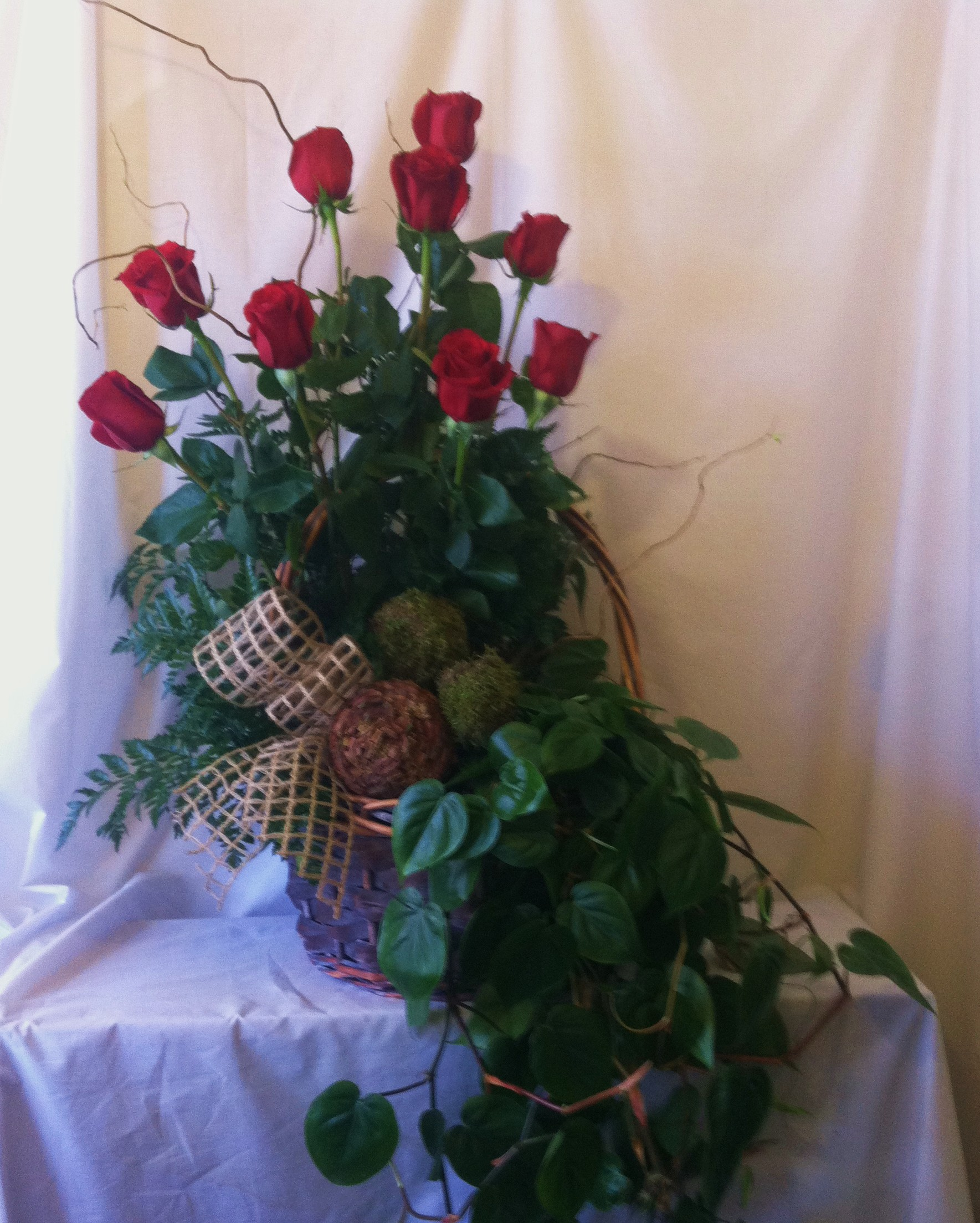 Rose and Ivy Spray