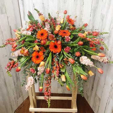 Orange Blossom Casket Piece