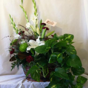 Festive Floral Planter