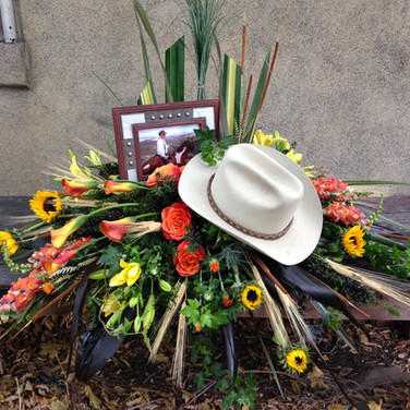 Cowboy Casket Piece