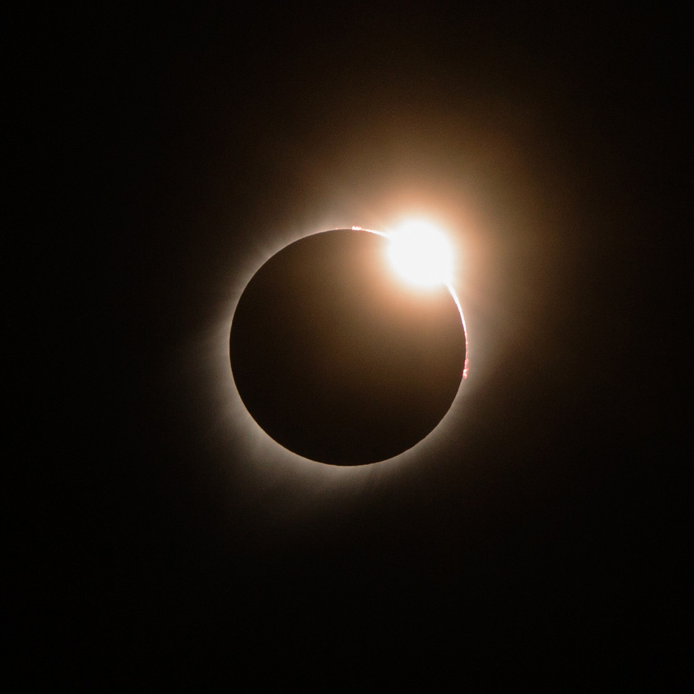 The diamond ring of a solar eclipse