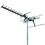 TV antenna signal booster