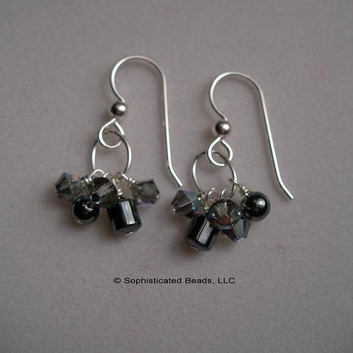 Hematite and Black Diamond Swirls