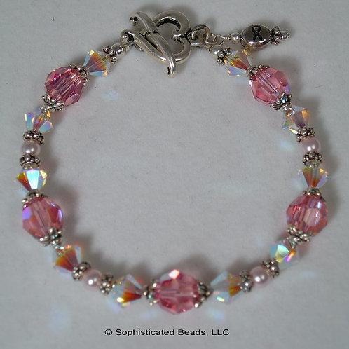 Lt. Rose Breast Cancer Bracelet