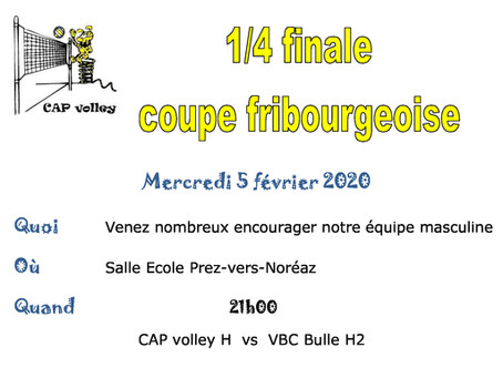 Coupe Fribourgeoise 1/4 Finale