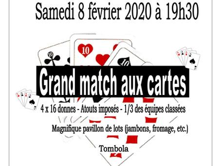 Match aux cartes 8 Février