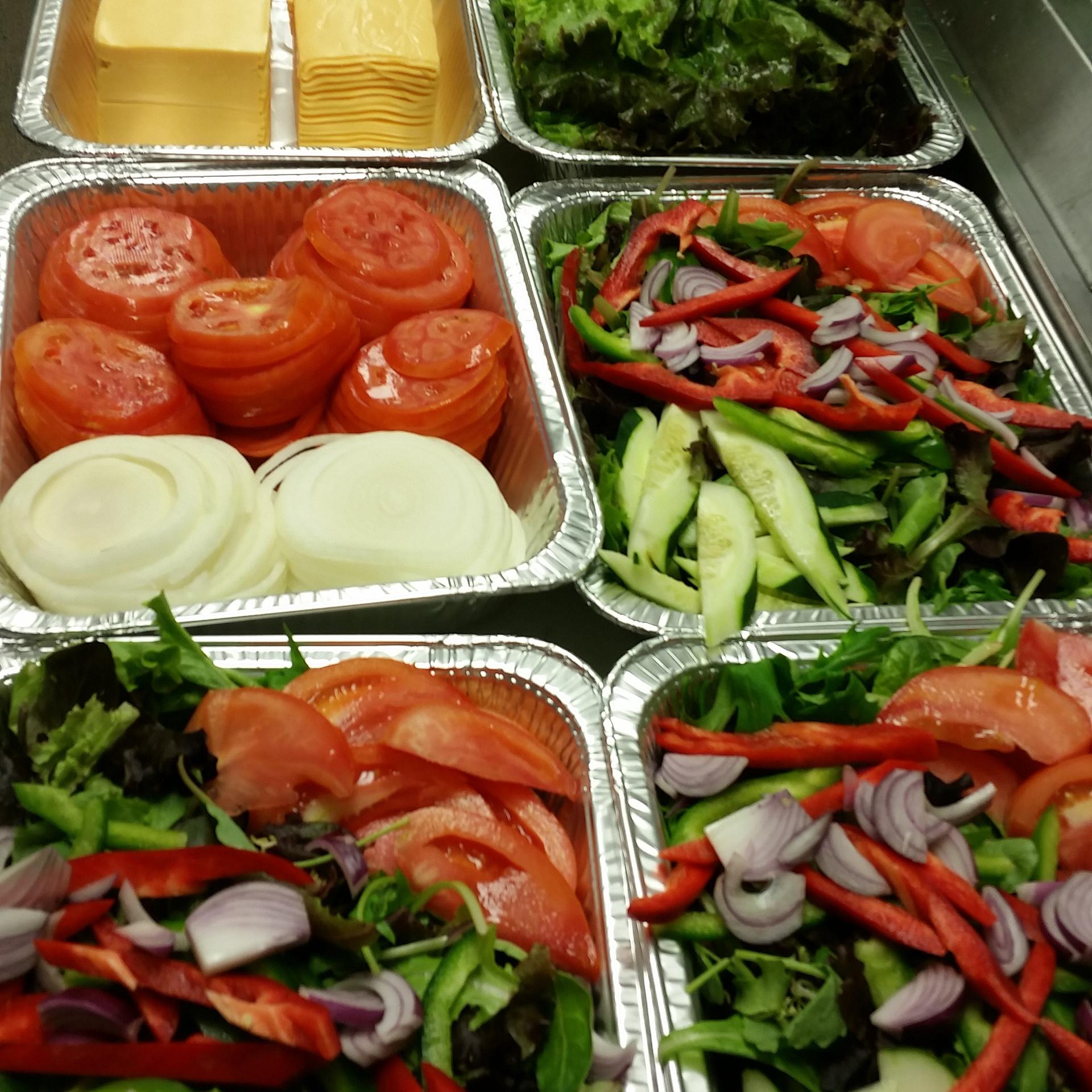 Salads & Burger set-ups