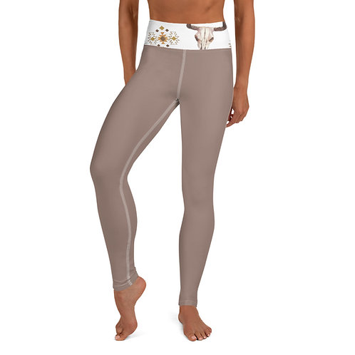 Bull Skull Yoga Leggings