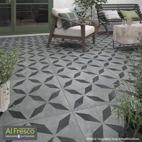 Welford  Geometric Grey 600x600x20mm