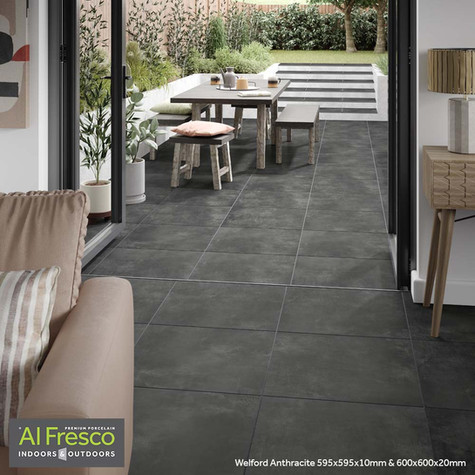 Welford Anthracite 595x595x10mm