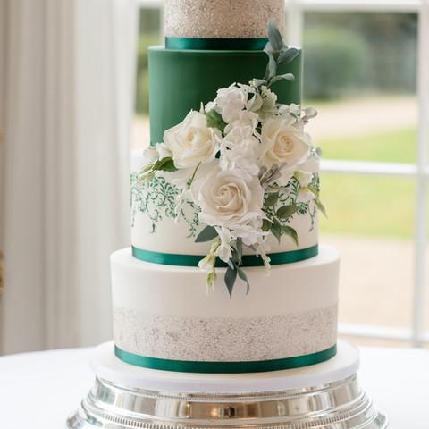 Rushton Hall Wedding Cake