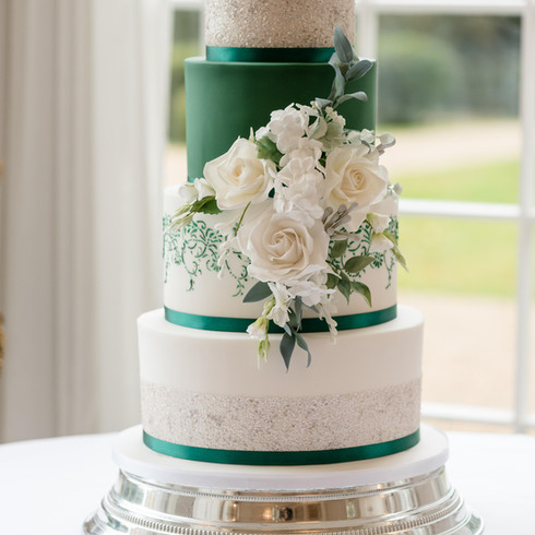 Rushton Hall Wedding Cake