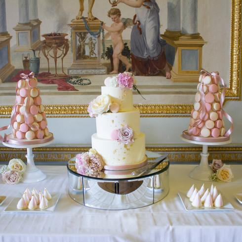 Cassie & Alex's Wedding Cake & Dessert Table