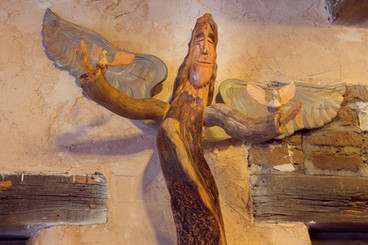 Pete Ortega angel of peace woodcarving