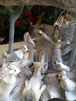 Pete Ortega Nativity Woodcarving