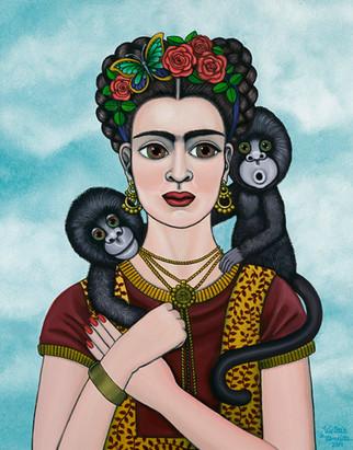 Frida Kahlo-Frida in the Sky