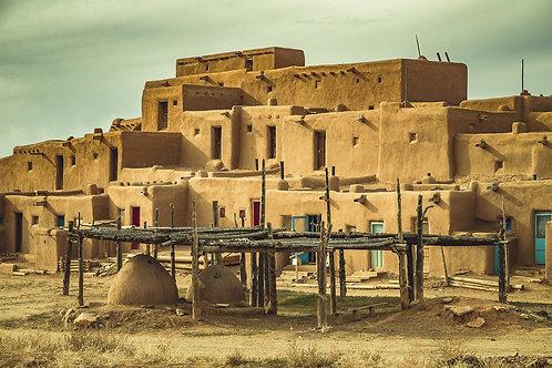 Taos Pueblo | Vivid Metal Print
