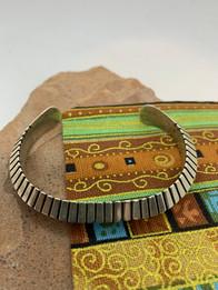 Navajo Hammered Silver Bracelet by Jasper Nelson - $300