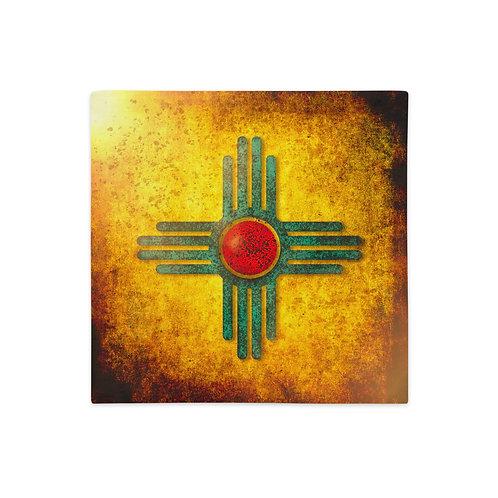 Taos Pueblo Premium Pillow Case (Without Pillow)