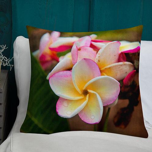 White Plumeria-Hawaii Throw Pillow by Robert Arrington