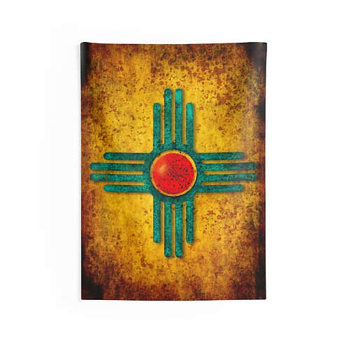 Turquoise Zia Indoor Wall Tapestry