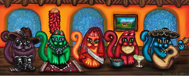 Fiesta Cats Or Gatos De Santa Fe