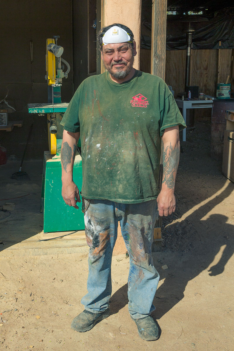 Joe Ortega at his studio in Santa Fe