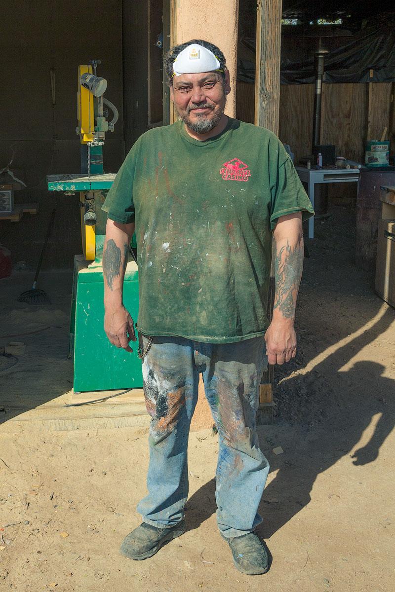 Joe Ortega at his studio in Santa Fe
