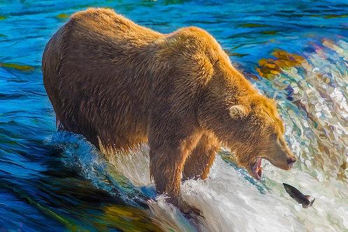 Gotcha! | Alaska Bear Vivid Metal Print