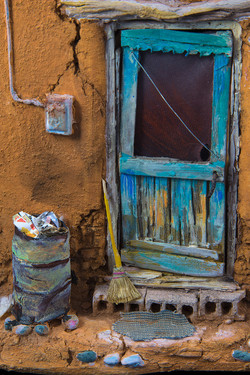 Door with Trash Can by Tim Prythero