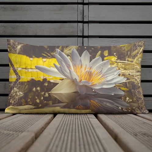 Namaste Lotus Flower-Botanical Throw Pillow by Robert Arrington