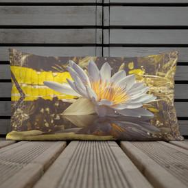Namaste Lotus Flower-Botanical Throw Pillow