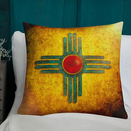 New Mexico Zia Sunburst -Premium Pillow