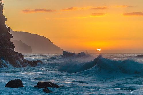 Kauai, Hawaii: Na Pali Ocean Sunset